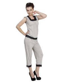 Ladies Grey Pyjama